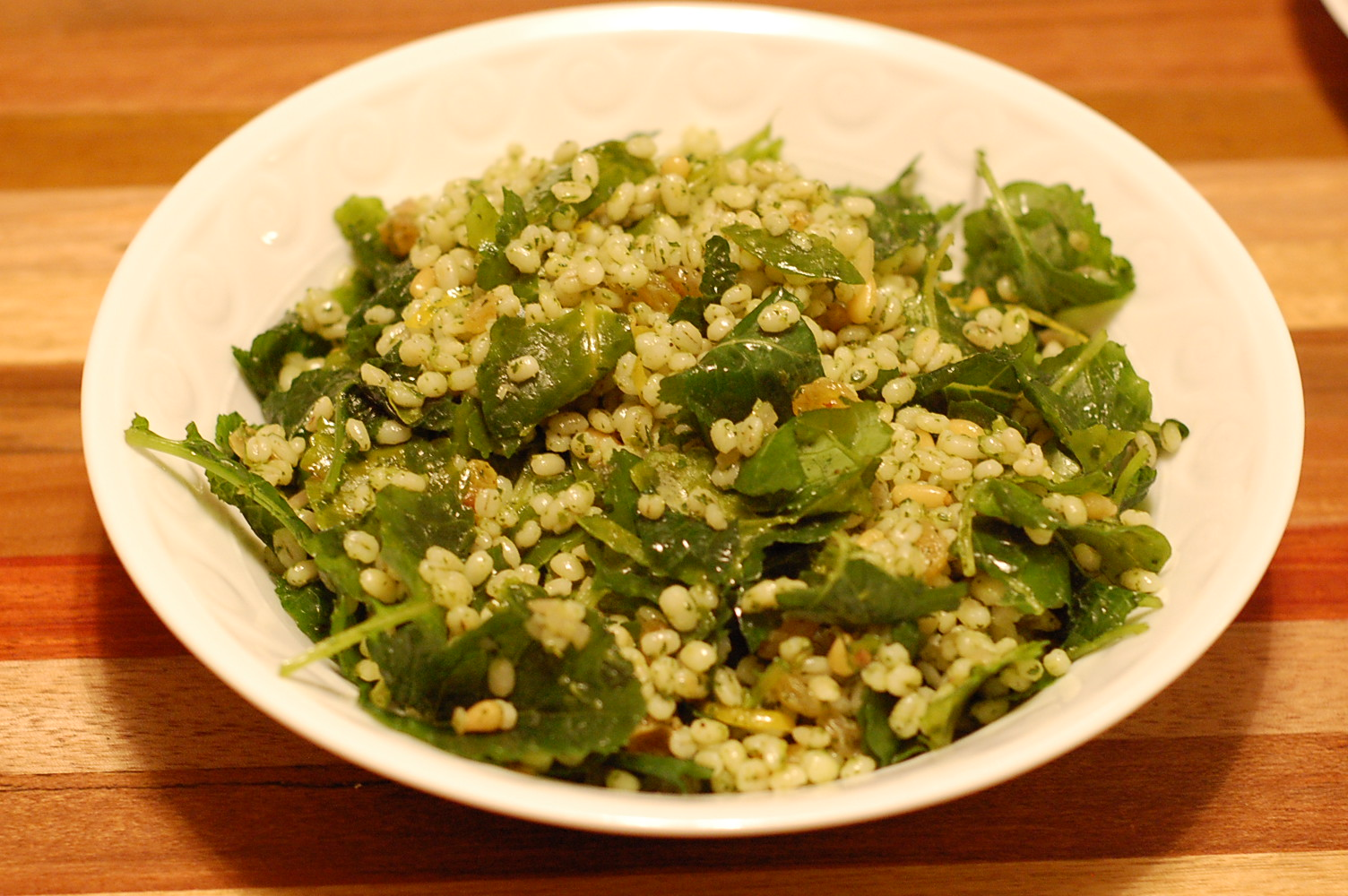 Barley Salad with Kale Pesto