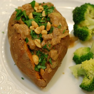 Sweet Potatoes with Spicy Peanut Sauce