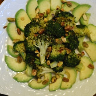 Broccoli Salad with Avocado and Pistachios