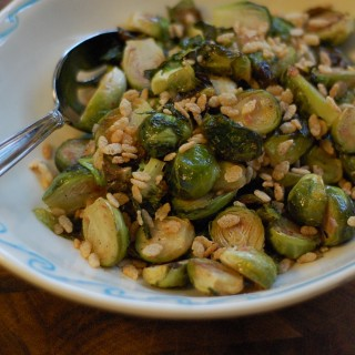 Brussels Sprout Salad with Rice Krispies