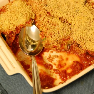 Spicy Vegan Eggplant Parmesan