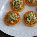 Butternut squash with apples and hazelnuts