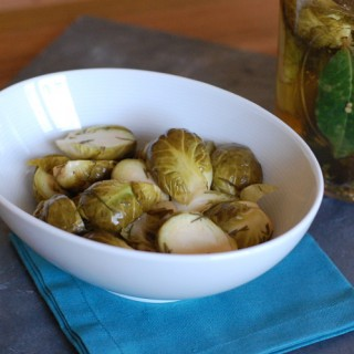 Refrigerator Brussels Sprout Pickles