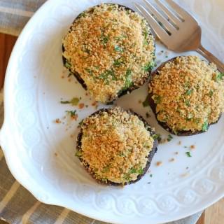 Artichoke and Olive-Stuffed Portobellos