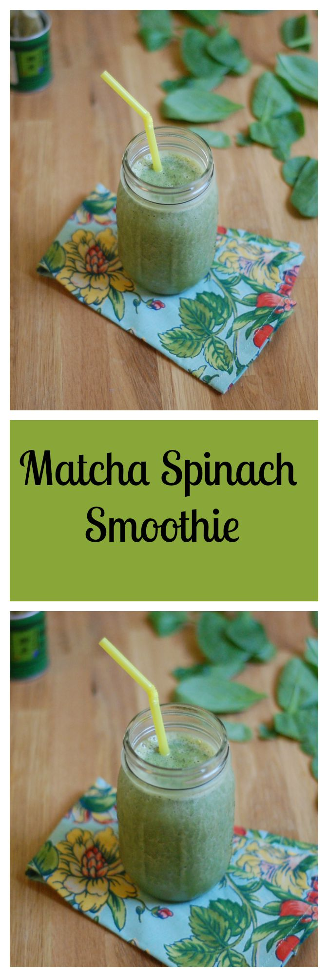 Vegan Matcha Spinach Smoothie