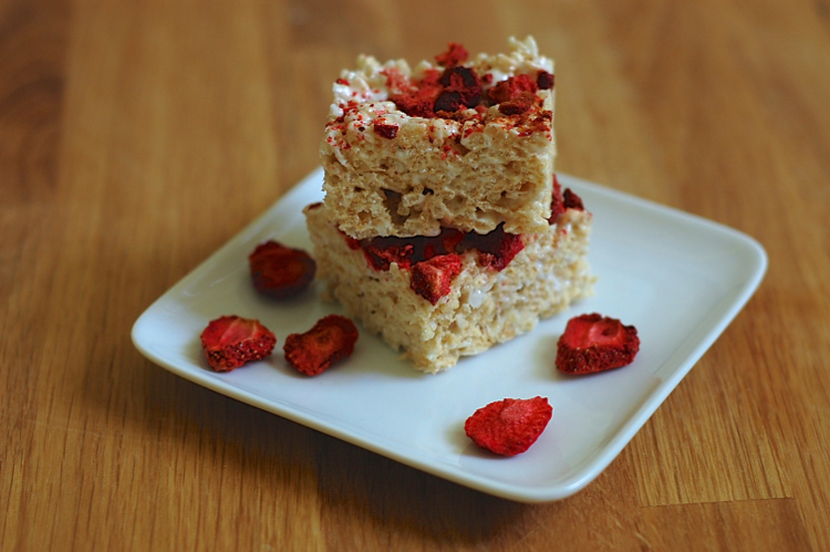 Almost Vegan Strawberry and Toasted Coconut Rice Krispie Treats 2