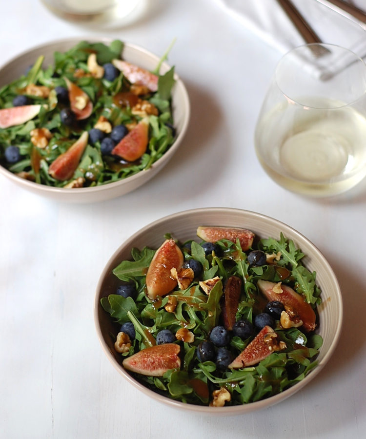 Fig salad with maple fig dressing