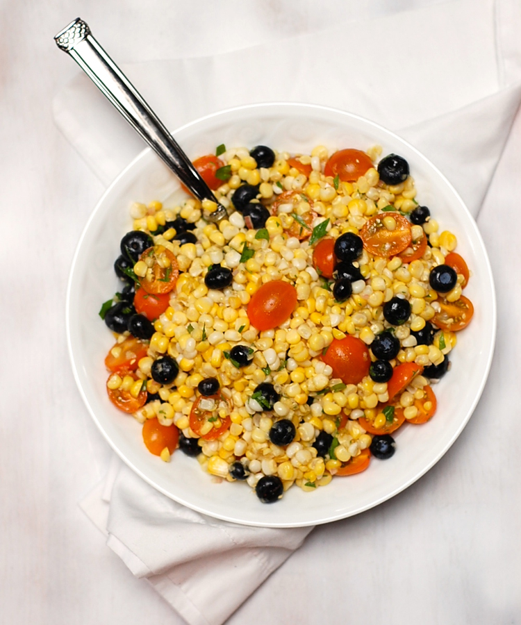 Corn Salad with Tomatoes and Blueberries – Turnip the Oven
