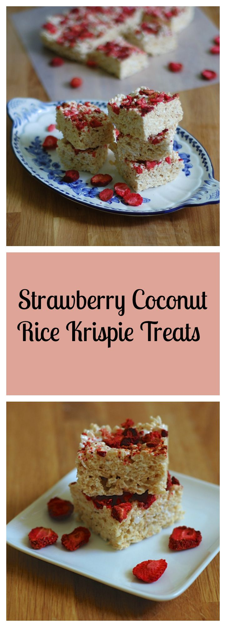 Gluten-Free, Dairy-Free Strawberry Coconut Rice Krispie Treats