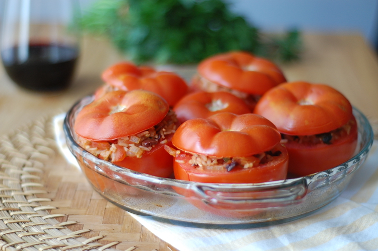 Vegan Stuffed Tomatoes