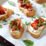 Vegan strawberry bruschetta