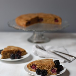 Whole Wheat Dairy-Free Blackberry Cake