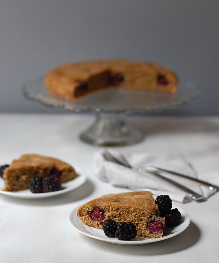 vegan blackberry cake