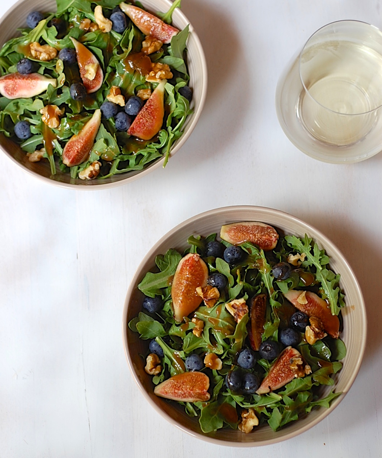 Arugula Fig Salad with Maple Fig Dressing