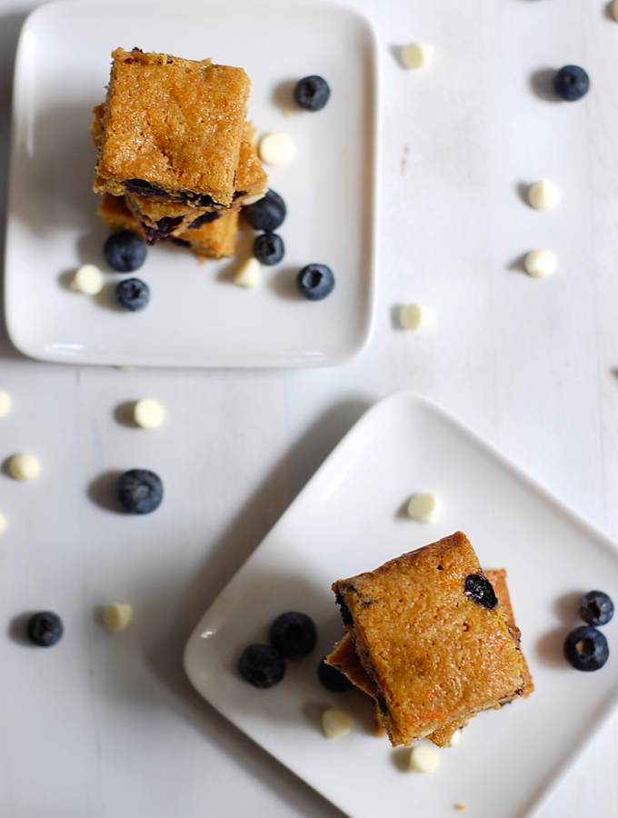 Whole wheat blondies overhead
