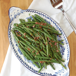 Roasted Green Beans with Honey and Dijon Mustard