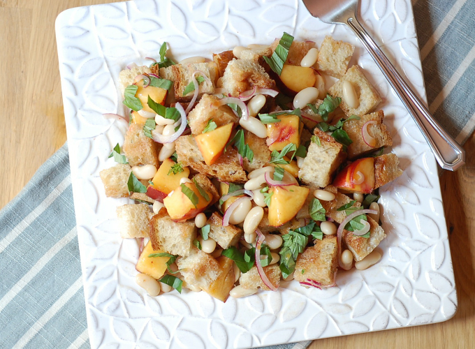 peach bread salad 3