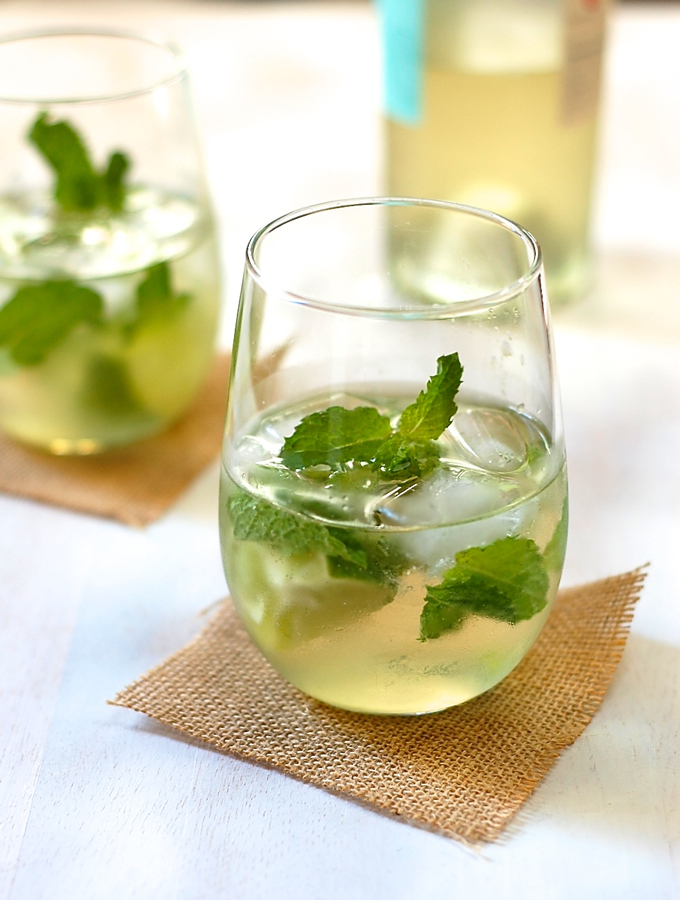 White wine mojito with agave