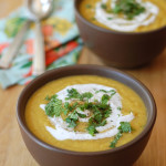 Apple, Corn and Butternut Squash Soup with Curry