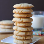 orange and brown butter sugar cookies