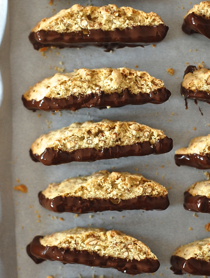 Chocolate-covered pretzel biscotti 5