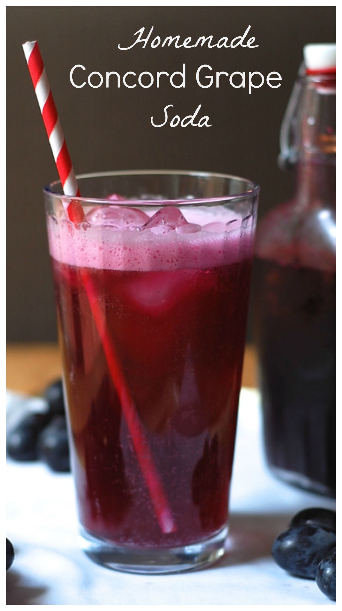 Fresh grape soda. The perfect fall beverage! Find the recipe at turniptheoven.com