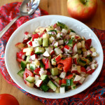 Indian Apple, Tomato and Radish Salad
