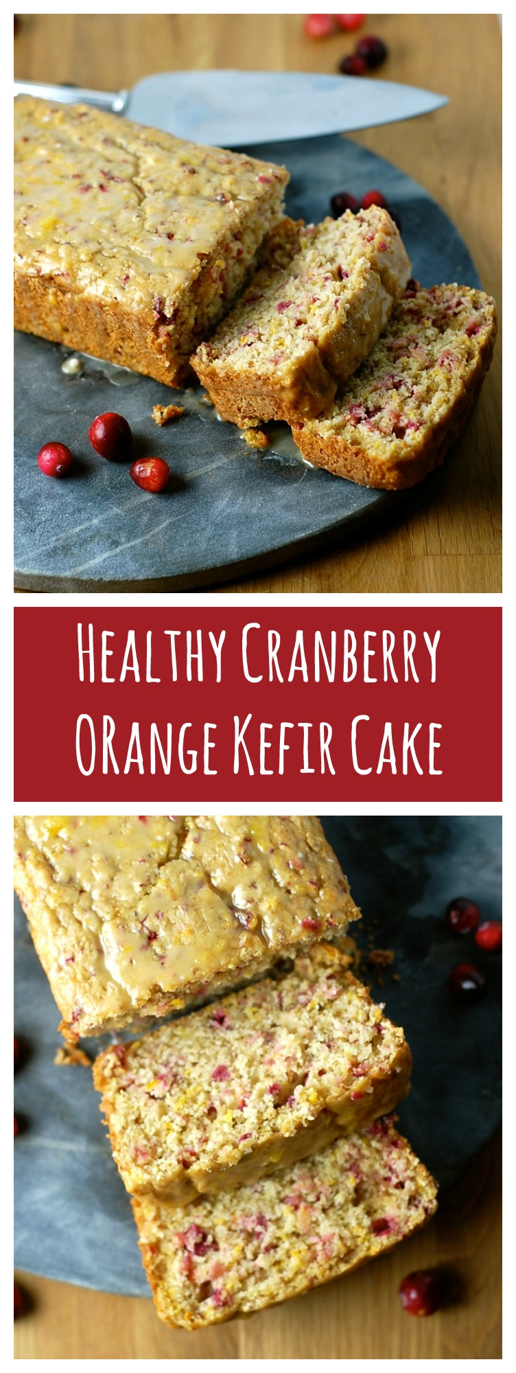 Cranberry Orange Kefir Cake