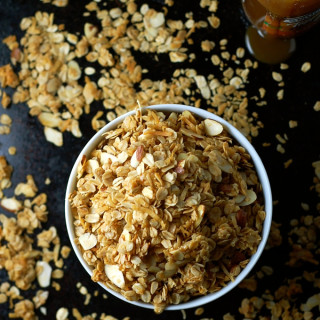 Six Ingredient Salted Caramel Granola