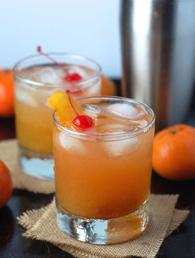 Tangerine whiskey sour 6