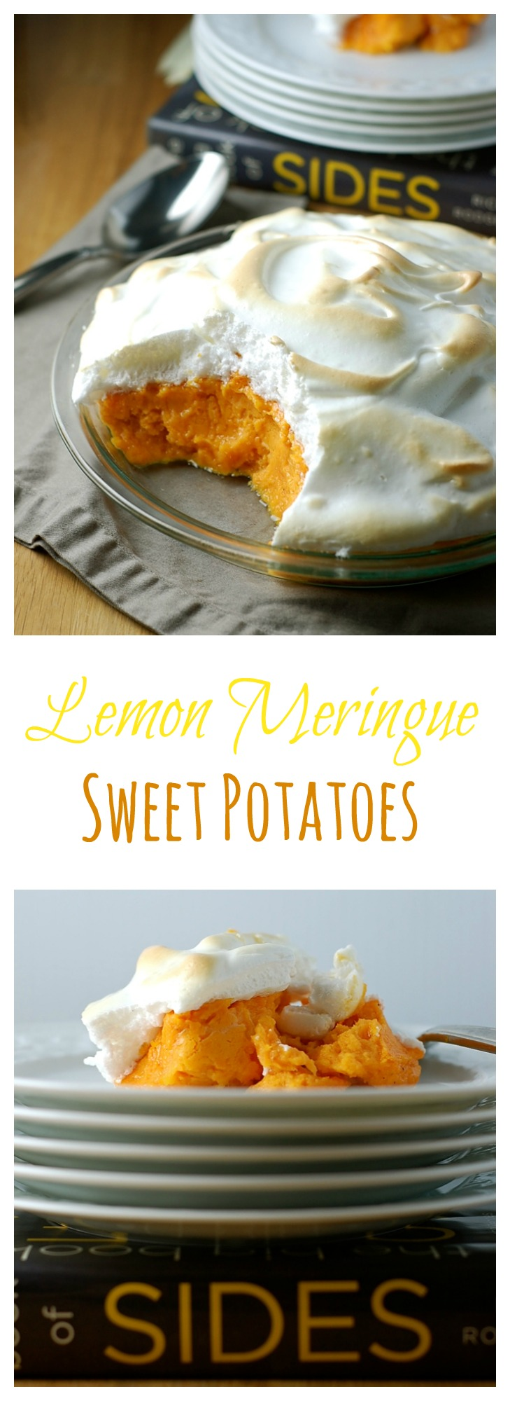 Lemon Meringue Sweet Potatoes