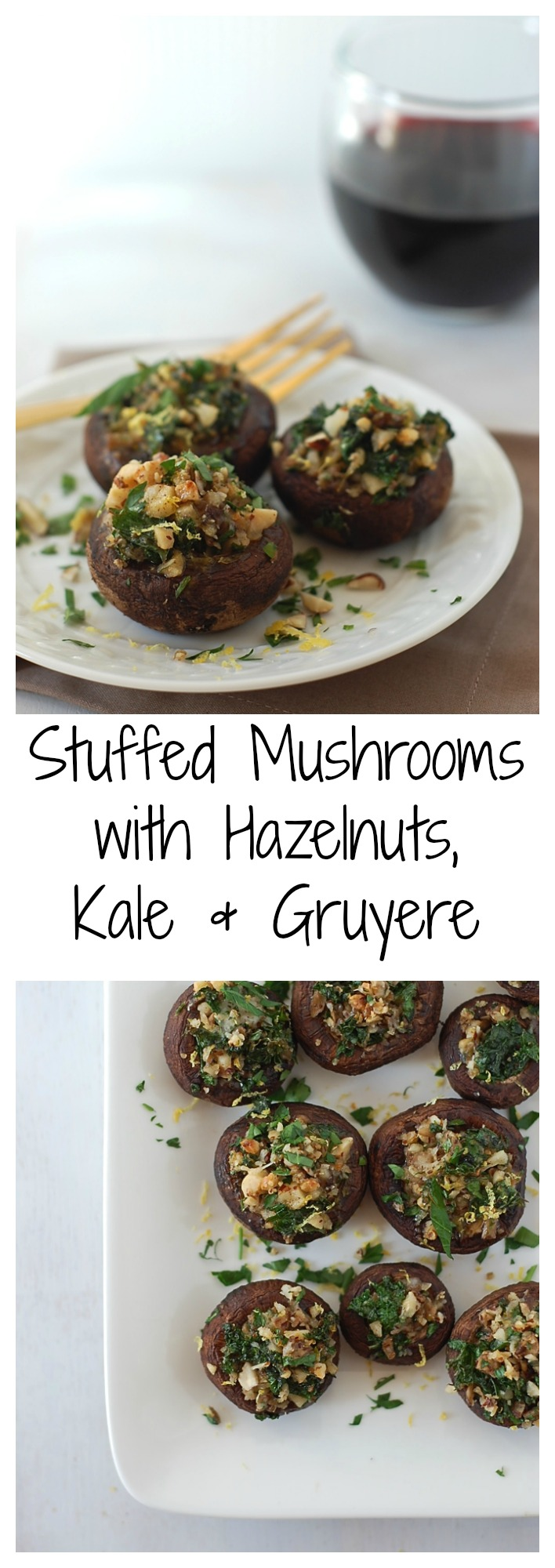 Gluten-Free stuffed mushrooms with only seven easy ingredients!