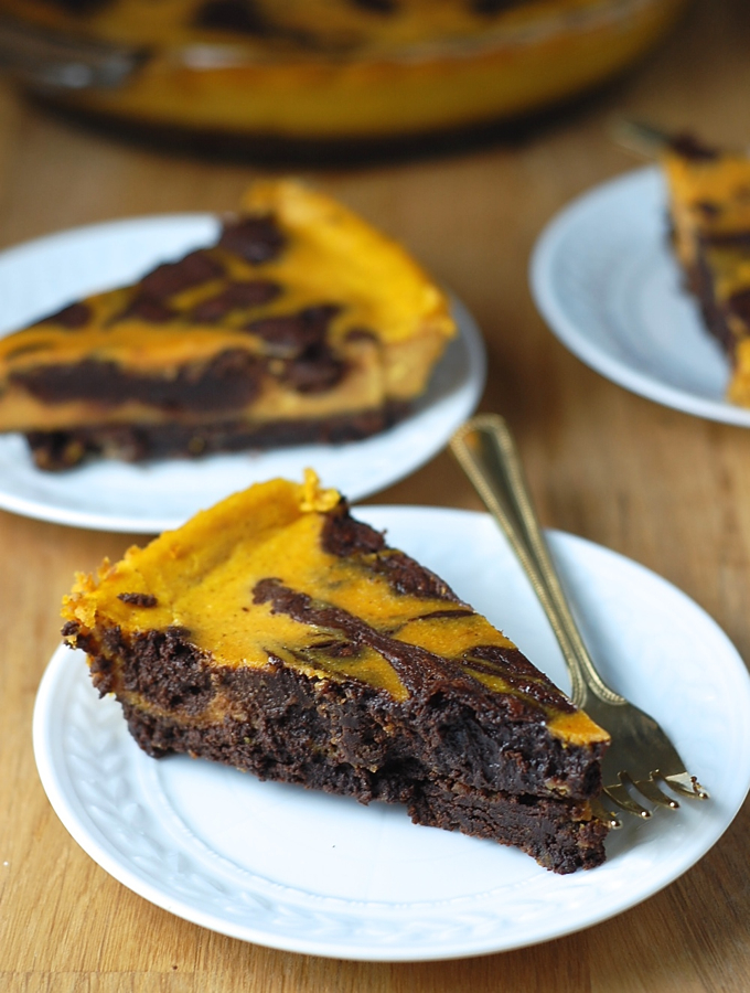 Pumpkin Brownie Pie 5