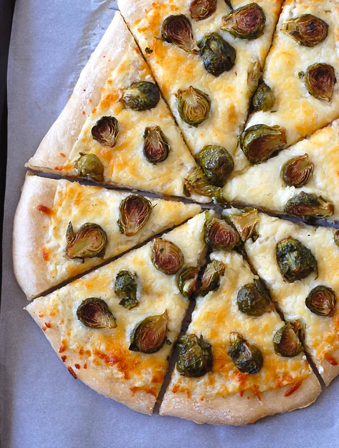 Easy White Pizza with Brussels Sprouts