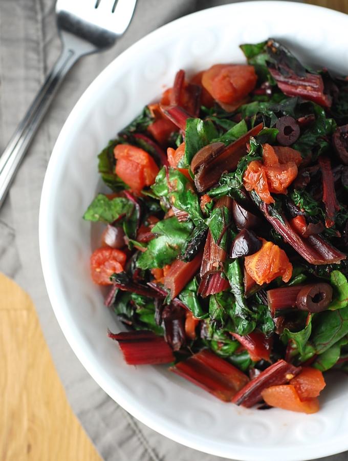 Swiss Chard Puttanesca