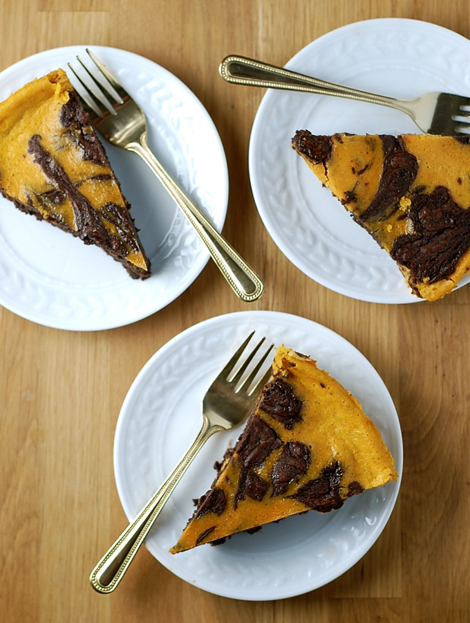 Gluten-Free Pumpkin Brownie Pie