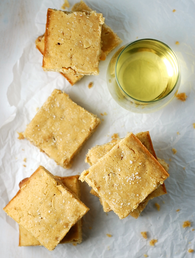 Easy Butterscotch Blondies with Chardonnay