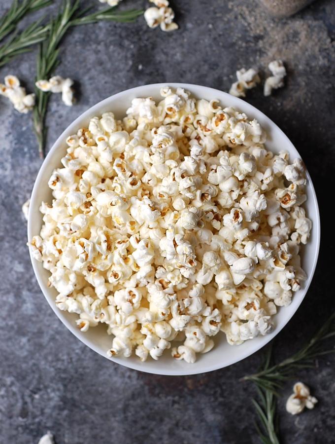 Rosemary Truffle Popcorn