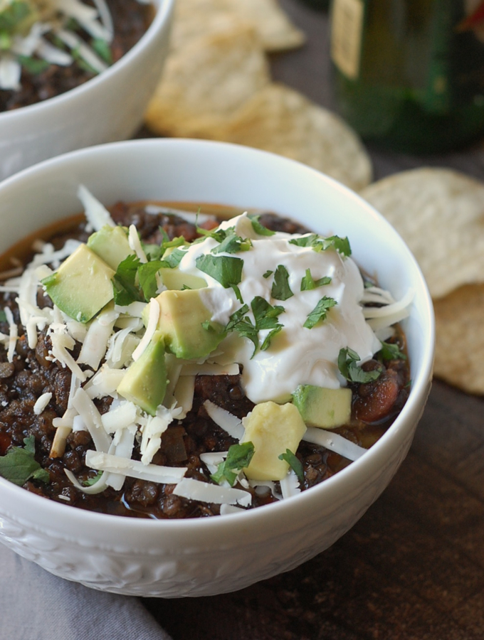 Easy Black Lentil Chili