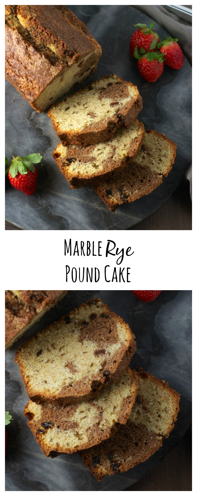 What if a marble pound cake and a marble rye bread got married? This delicious cake! Definitely sweet, and just a little bit savory too.