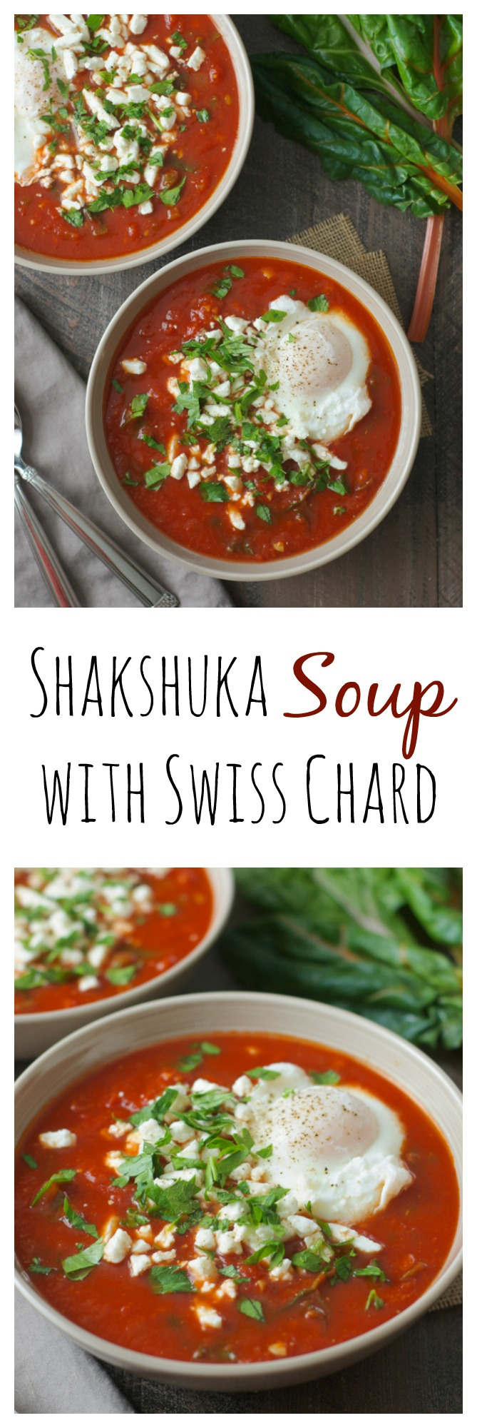 The best part of shakshuka (eggs poached in tomatoes, peppers, and spices) is the SAUCE, so why not eat a giant bowl of it in soup form? This recipe is simple enough for a weeknight, and freezer-friendly too!