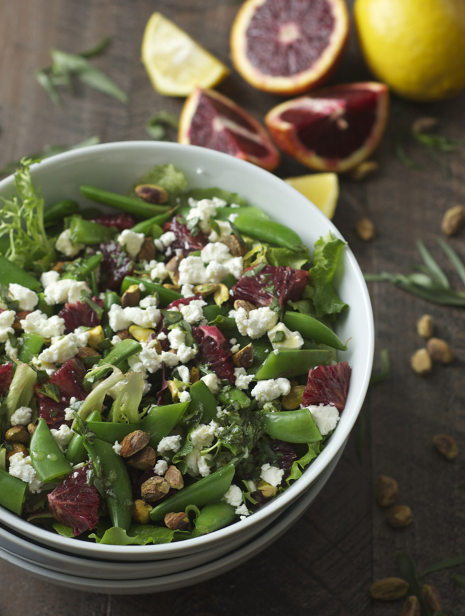 Snap Pea Salad with Blood Orange, Goat Cheese & Honey ...
