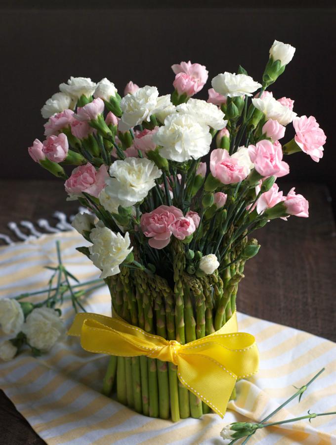 Asparagus Flower Vase Turnip The Oven
