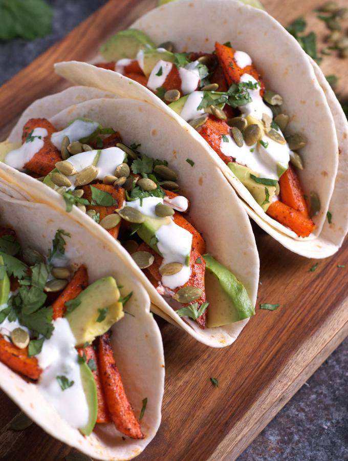 Chili Roasted Carrot and Avocado Tacos 2