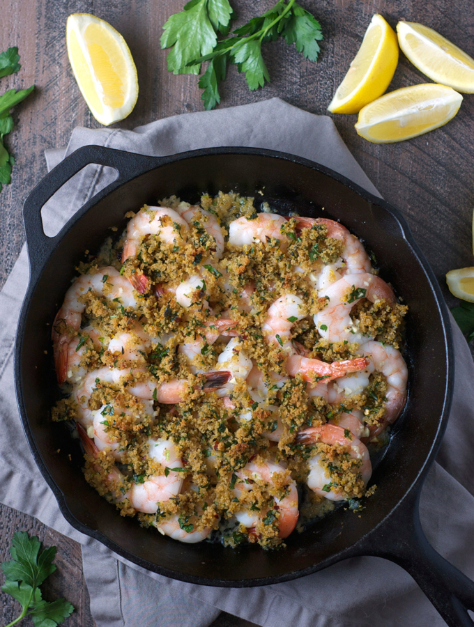 Easy Baked Shrimp with Garlic and Herb Butter