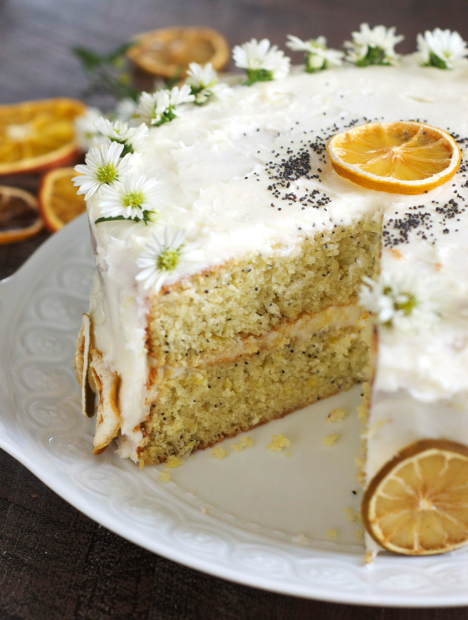 Lemon Poppy Layer Cake