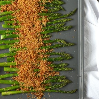 Roasted Asparagus with Sundried Tomato Breadcrumbs