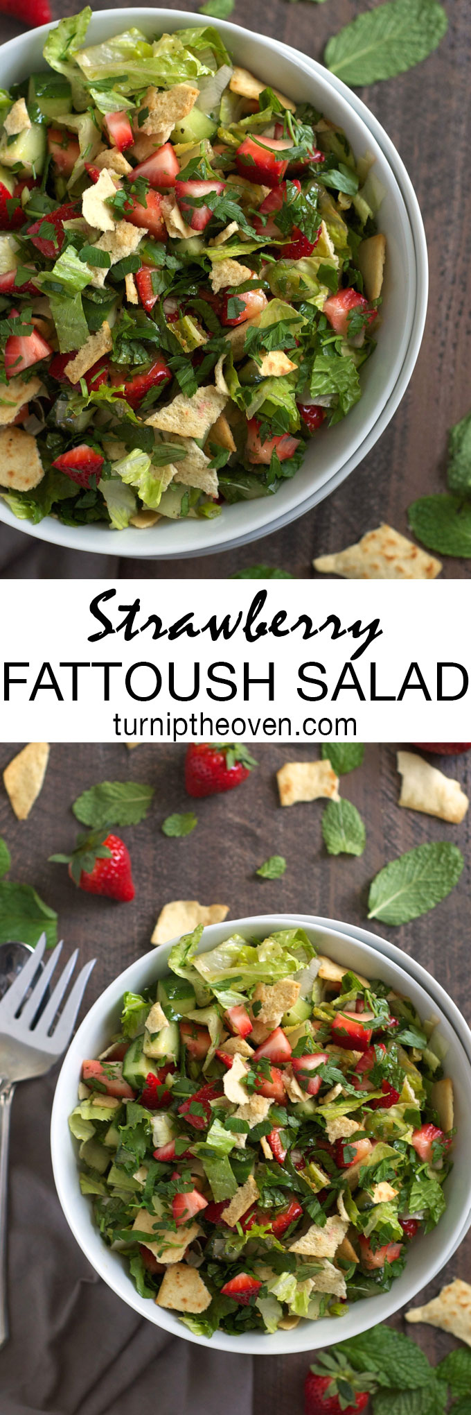 Ripe, juicy berries replace tomatoes in this classic Middle Eastern salad loaded with crushed pita chips. Made with simple, seasonal ingredients, this vegan salad is perfect for weeknight dinners and backyard BBQs.