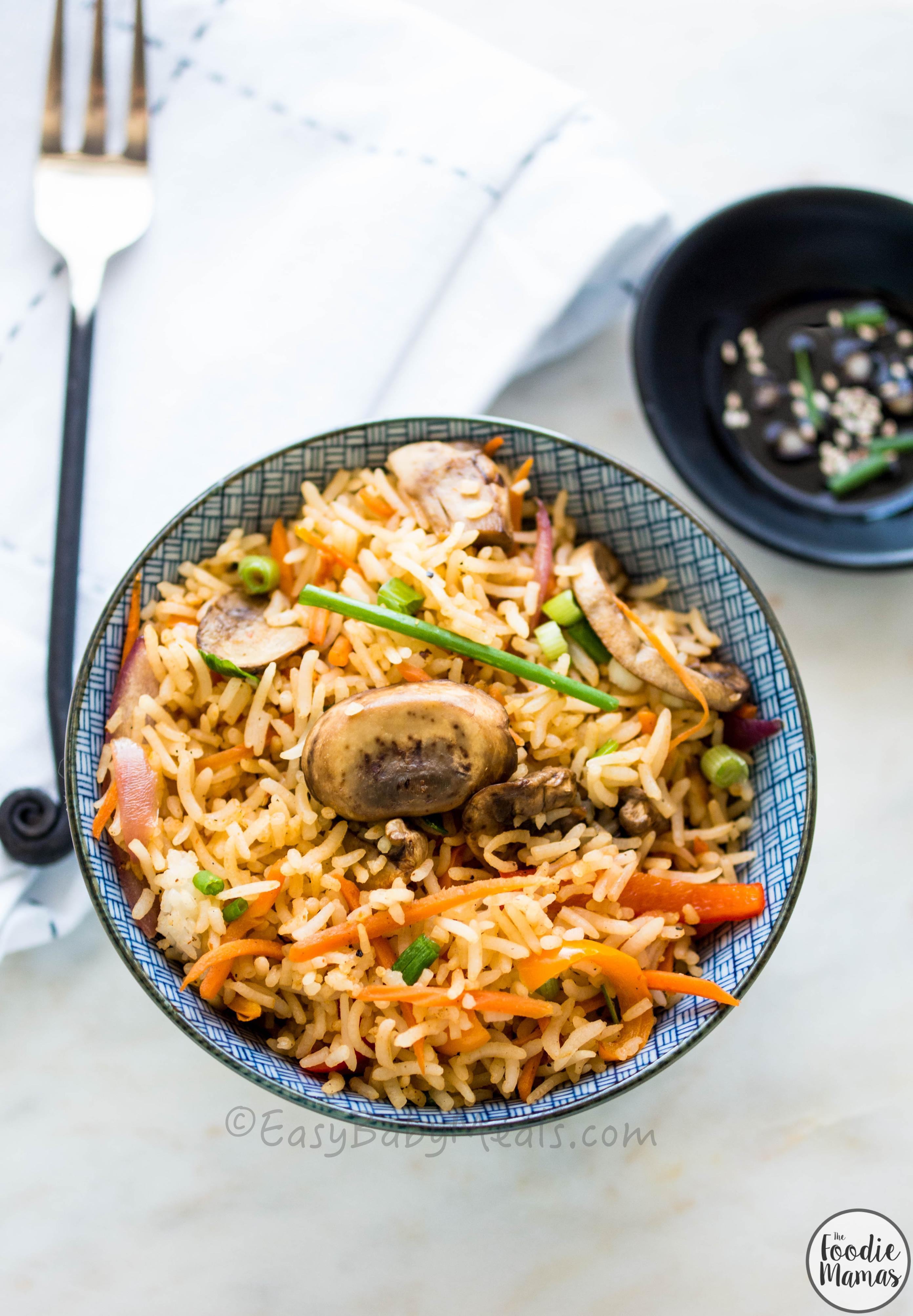 Quick Mushroom Fried Rice3