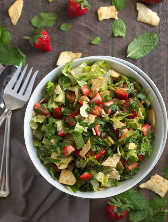 Strawberry Fattoush Salad